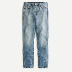 Point Sur rigid straight jeans with paint NWT